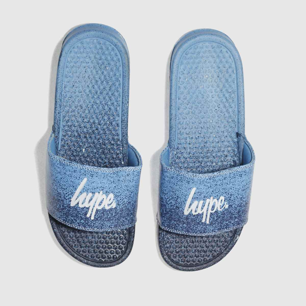 Hype Hype Navy Speckle Fade Slider Sandals