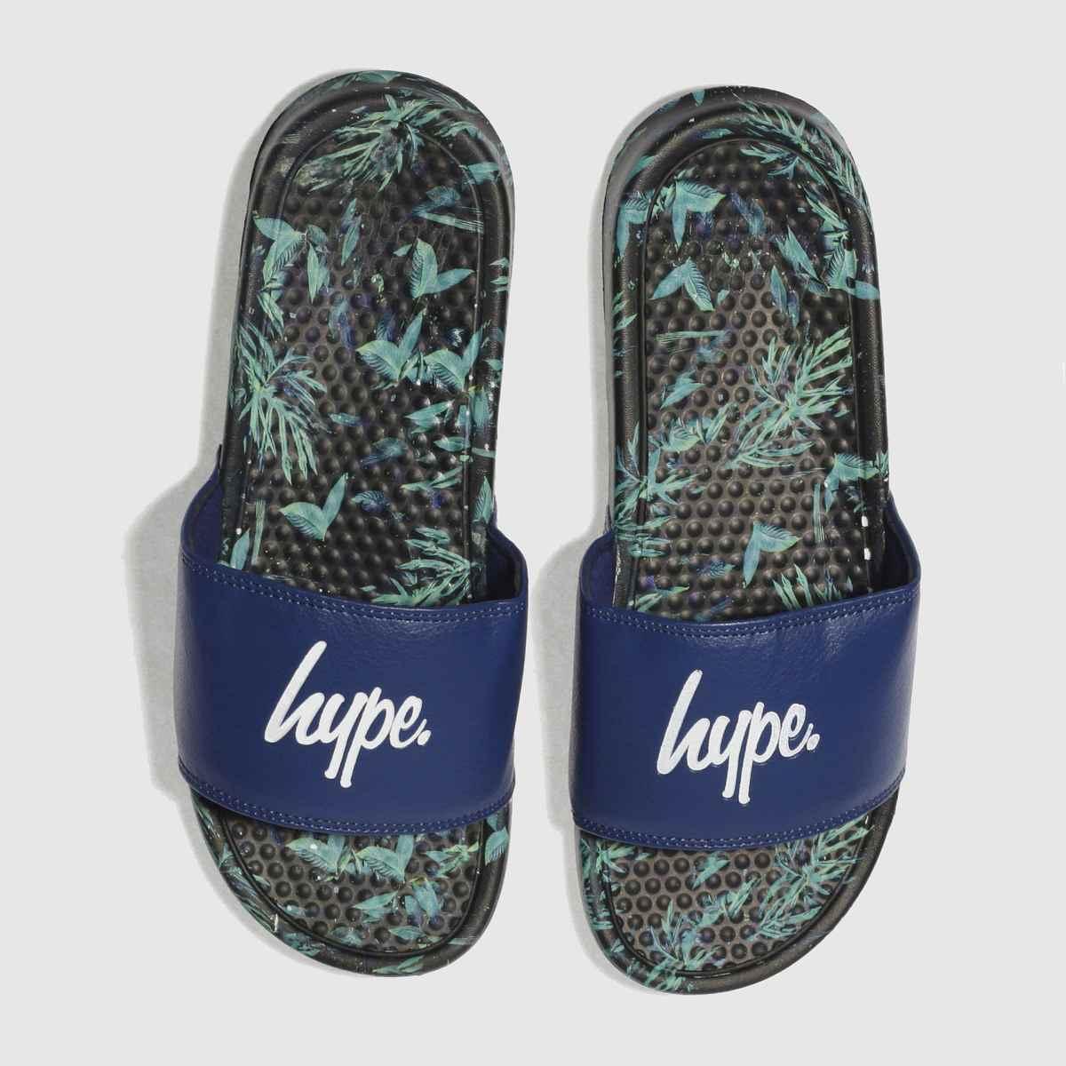 Hype Hype Navy Jungle Slider Sandals