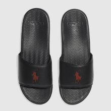 Polo Ralph Lauren Black & Red Rodwell Mens Sandals