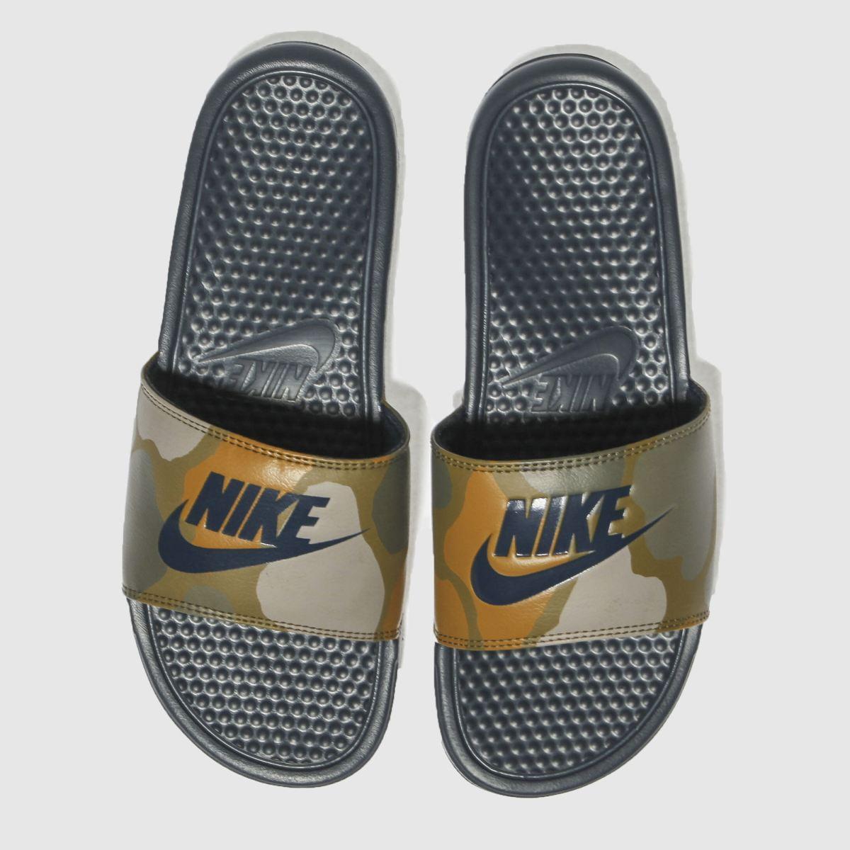 Nike Khaki Benassi Slide Sandals