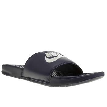 mens nike navy benassi sandals