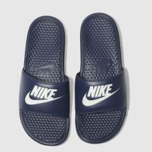 Nike Navy & White Benassi Jdi Mens Sandals