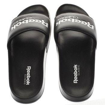 Reebok Black & White Classic Slide Sandals