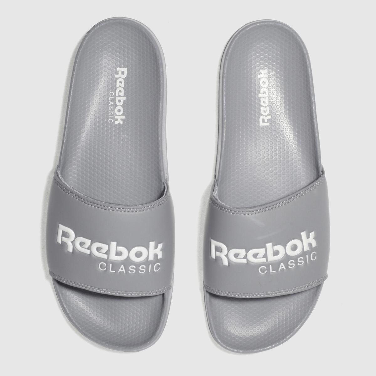 Reebok Grey Classic Slide Sandals