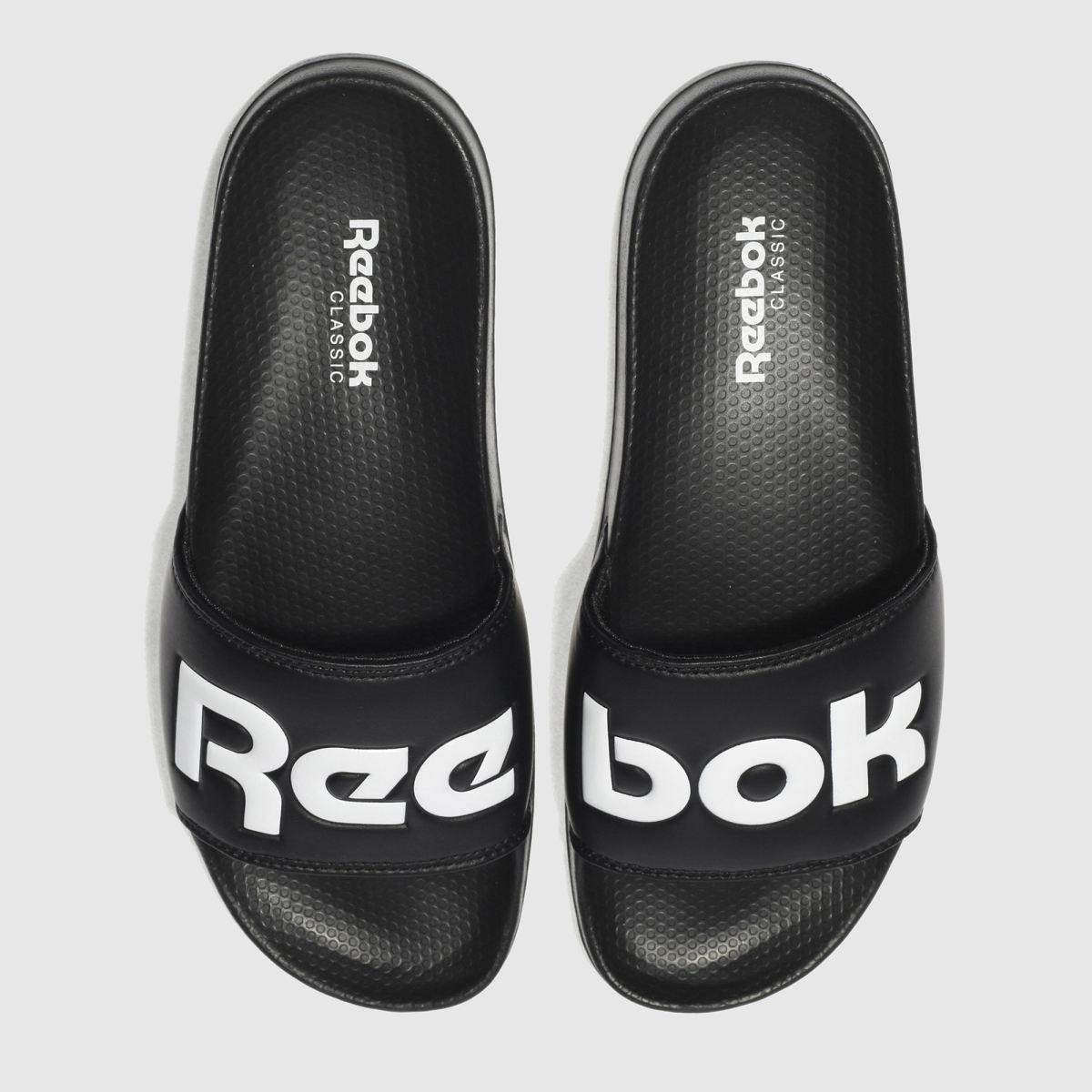 Reebok Black & White Classic Slide Sandals