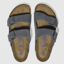 Birkenstock Grey Birk Arizona Suede Mens Sandals