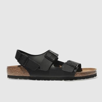 Mens Birkenstock Black Milano Sandals