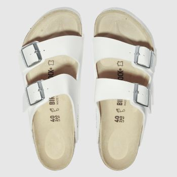Mens Birkenstock White Arizona Sandals