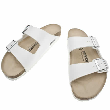 white arizona birkenstocks