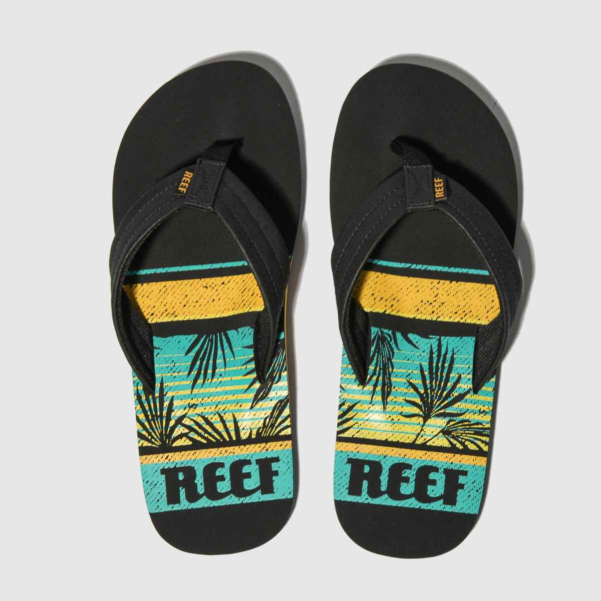 Reef Reef Black And Blue Waters Sandals