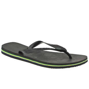 mens havaianas black brasil sandals