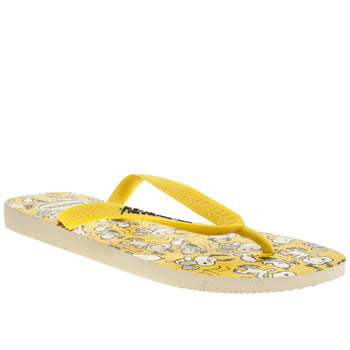 Havaianas Yellow Snoopy Sandals