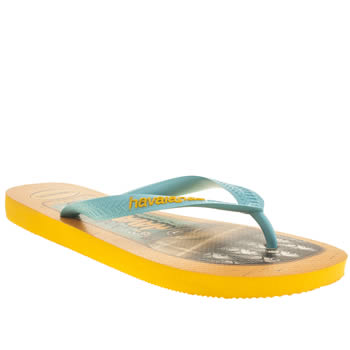 Havaianas Blue & Yellow Teen Sandals