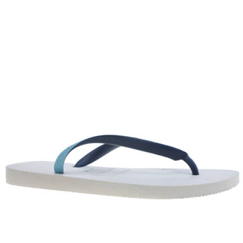 Mens Havaianas White & Blue Top Mix Sandals