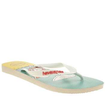 Mens Havaianas Blue & Yellow Snoopy Beach Sandals