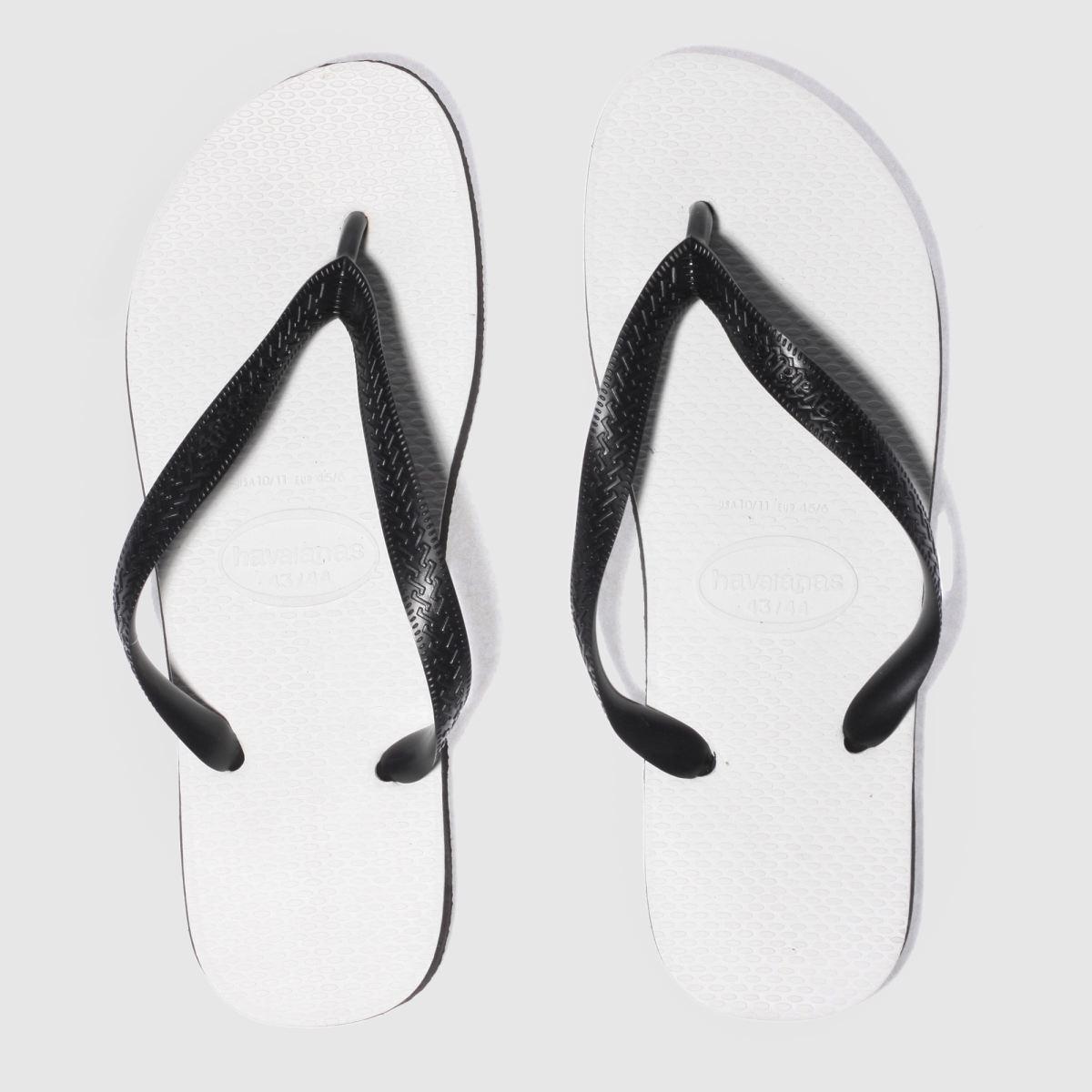 Havaianas Havaianas White & Black Tradicional Sandals