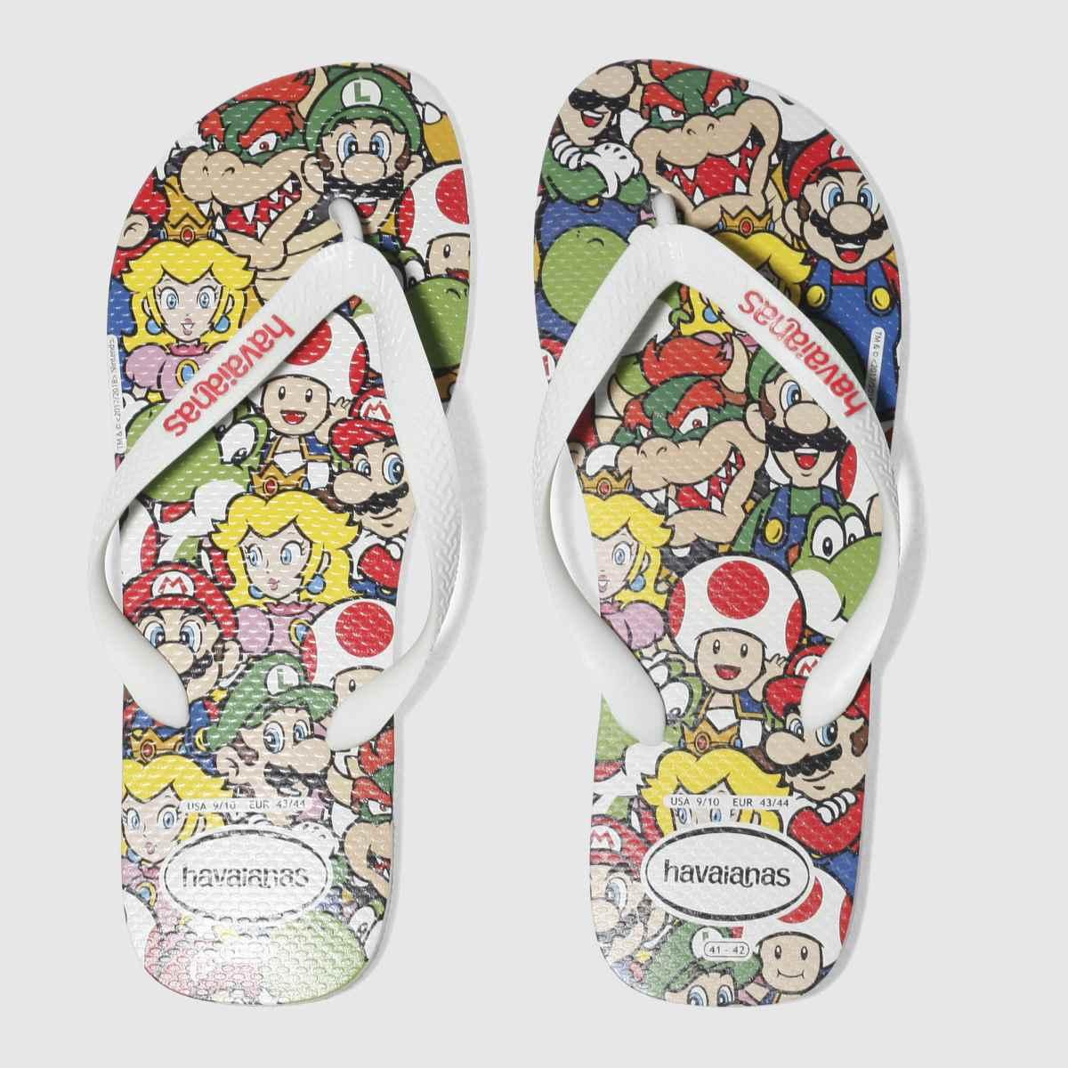Havaianas Havaianas White & Red Mario Bros Sandals