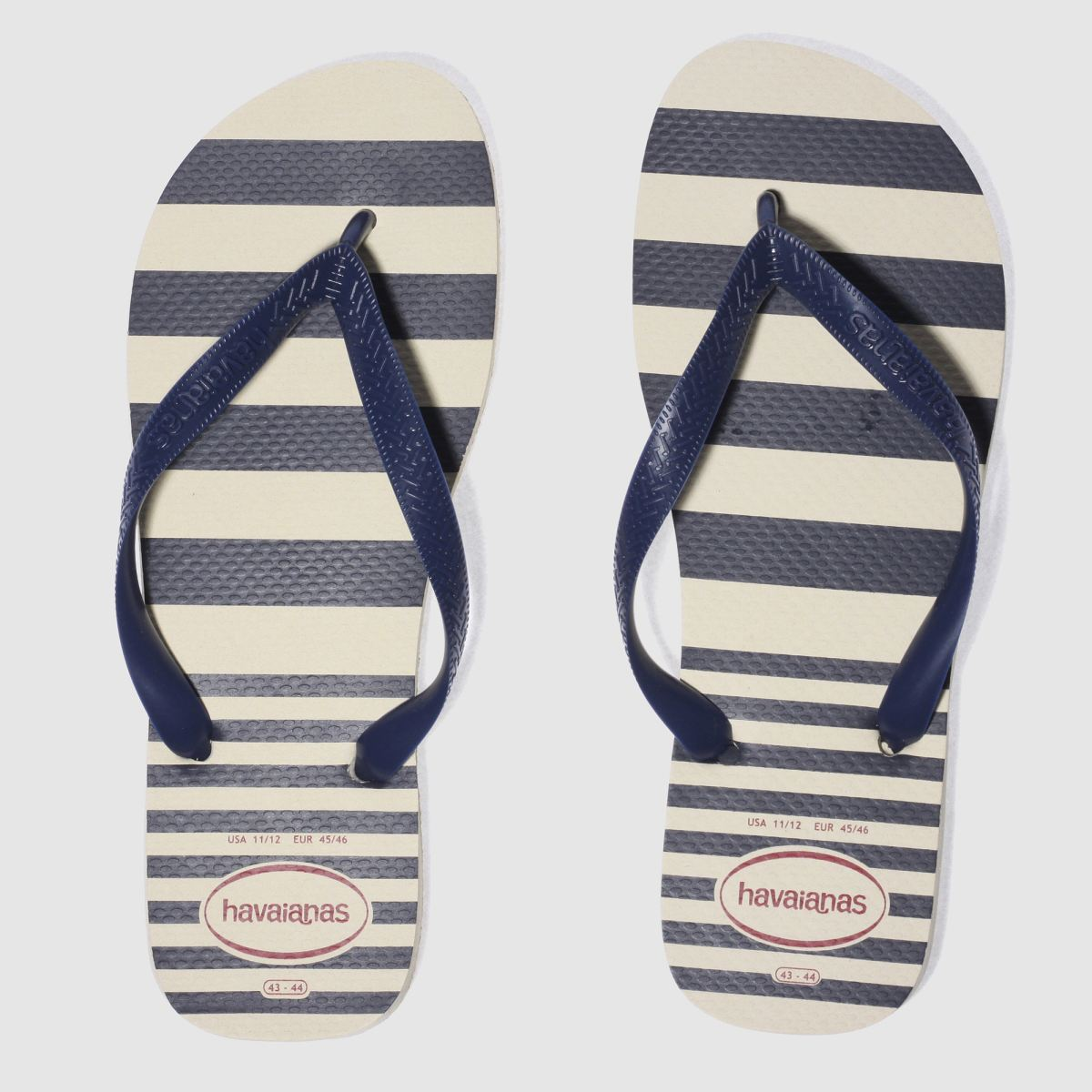 Havaianas Havaianas Beige & Navy Top Retro Sandals
