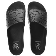 Momentum Black Sol Slide Emboss Mens Sandals