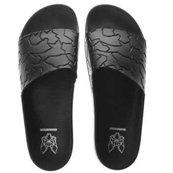Momentum Black Sol Slide Emboss Sandals