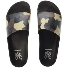 Momentum Black & Green Sol Slide Print Mens Sandals