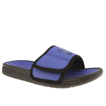 Polo Ralph Lauren Black and blue Romsey Sandals