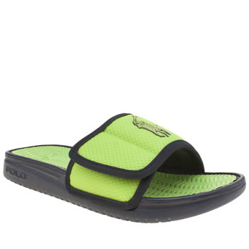 Mens Polo Ralph Lauren Navy & Green Romsey Sandals