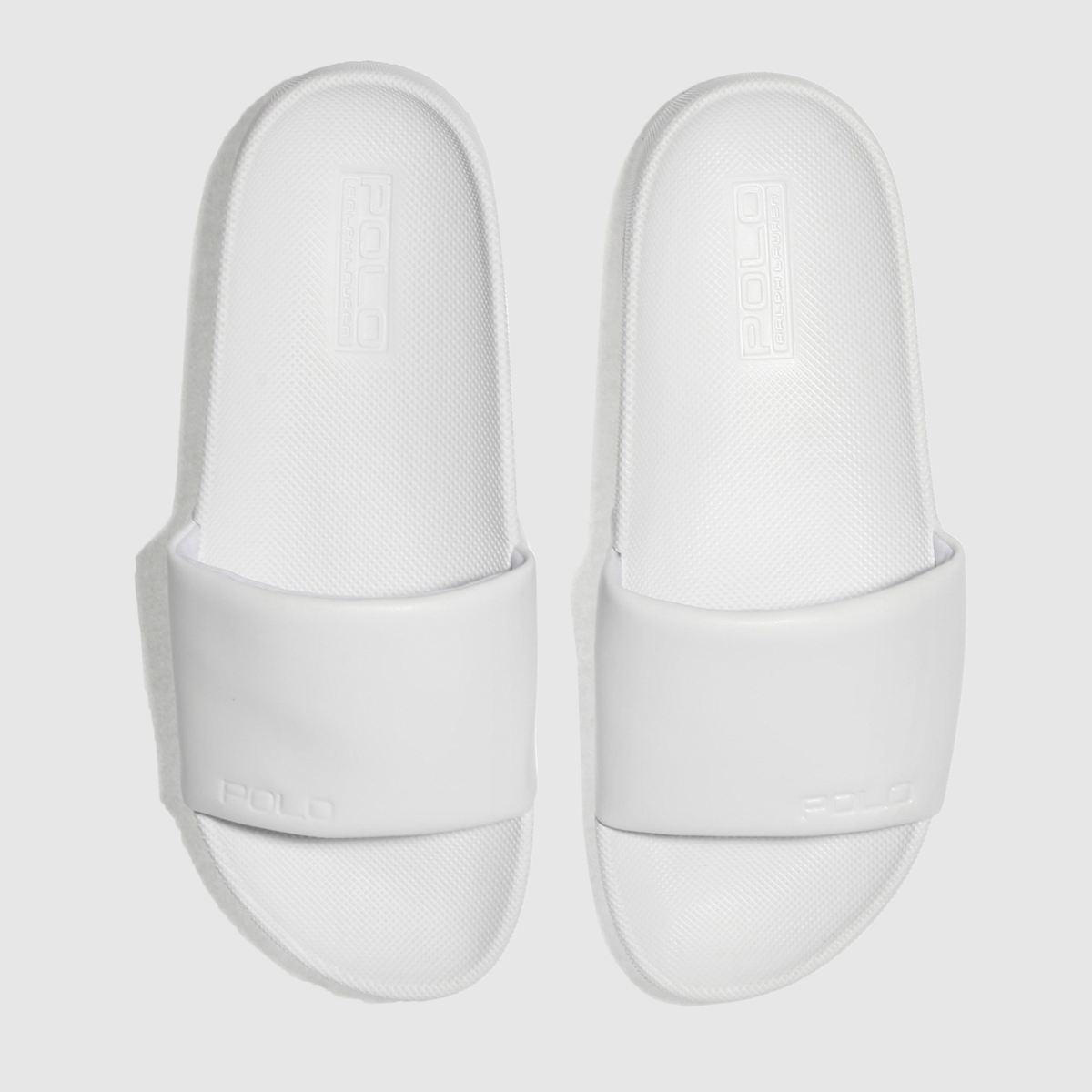 Polo Ralph Lauren White Cayson Sandals