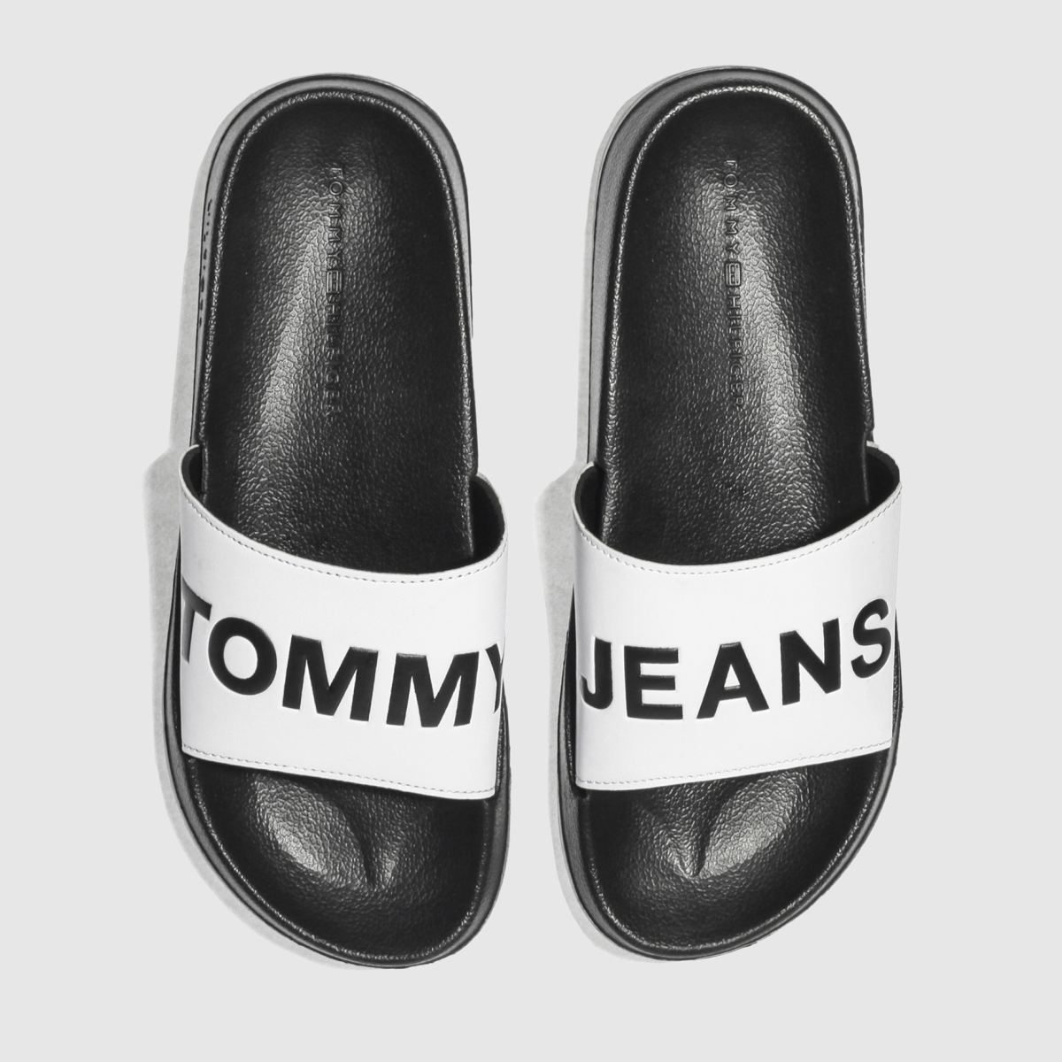 Tommy Hilfiger Tommy Hilfiger Black & White Tj Slide Sandals