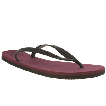 Mens Ecoalf Burgundy Flip Flop Sandals