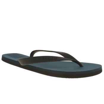 Ecoalf Navy & Black Flip Flop Sandals