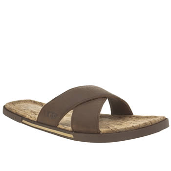 Ugg Australia Brown Ithan Cork Mens Sandals
