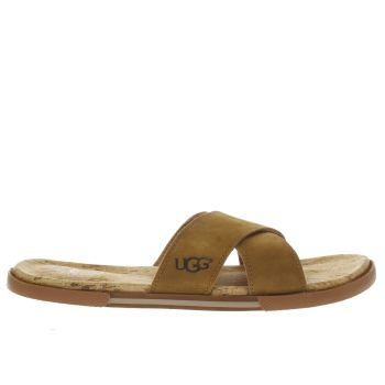 Ugg Australia Tan Ithan Cork Mens Sandals