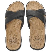 Ugg Black Ithan Cork Mens Sandals