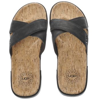 Ugg Australia Black Ithan Cork Mens Sandals