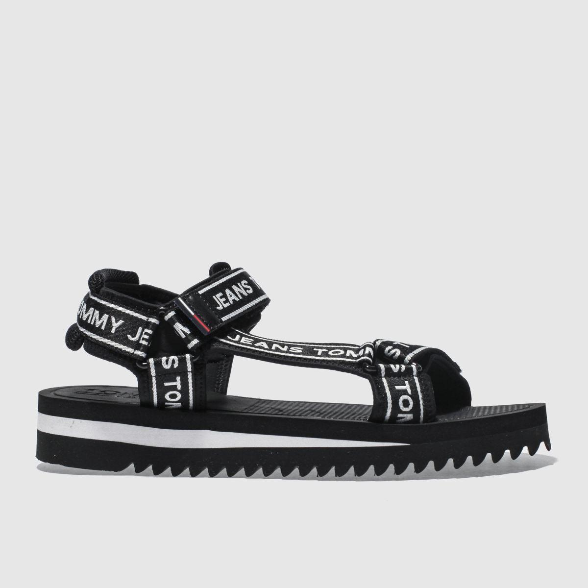 Tommy Hilfiger Tommy Hilfiger Black & White Tj Technical Sandals