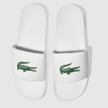 Mens Lacoste White & Green Fraisier Sandals