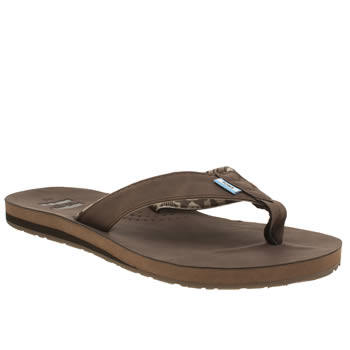 Mens Toms Brown Carilo Flip Flop Sandals