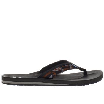 Toms Black Verano Flip Flop Mens Sandals