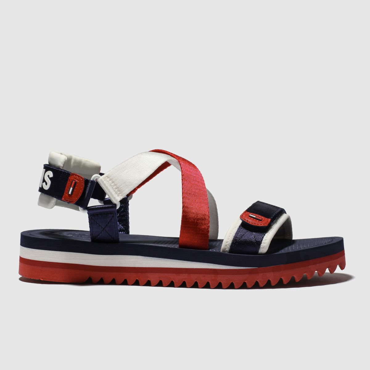 Tommy Hilfiger Navy & Red Tj Strap Sandal Sandals