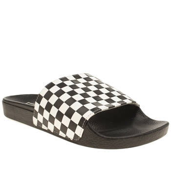 Vans Black & White Slide-on Sandals