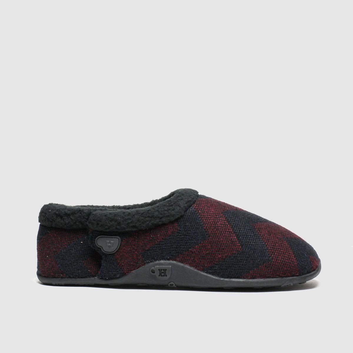 Homeys Homeys Black & Red Ivor Slippers