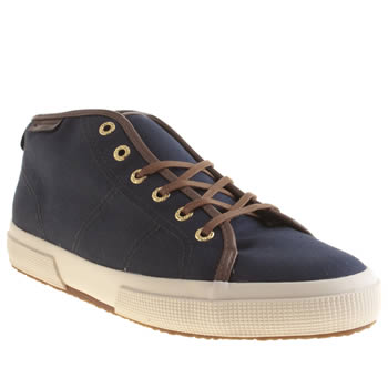 Mens Superga Navy 2228 Boot Trainers