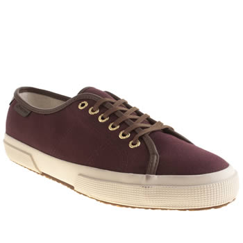 Mens Superga Burgundy 2227 Low Trainers