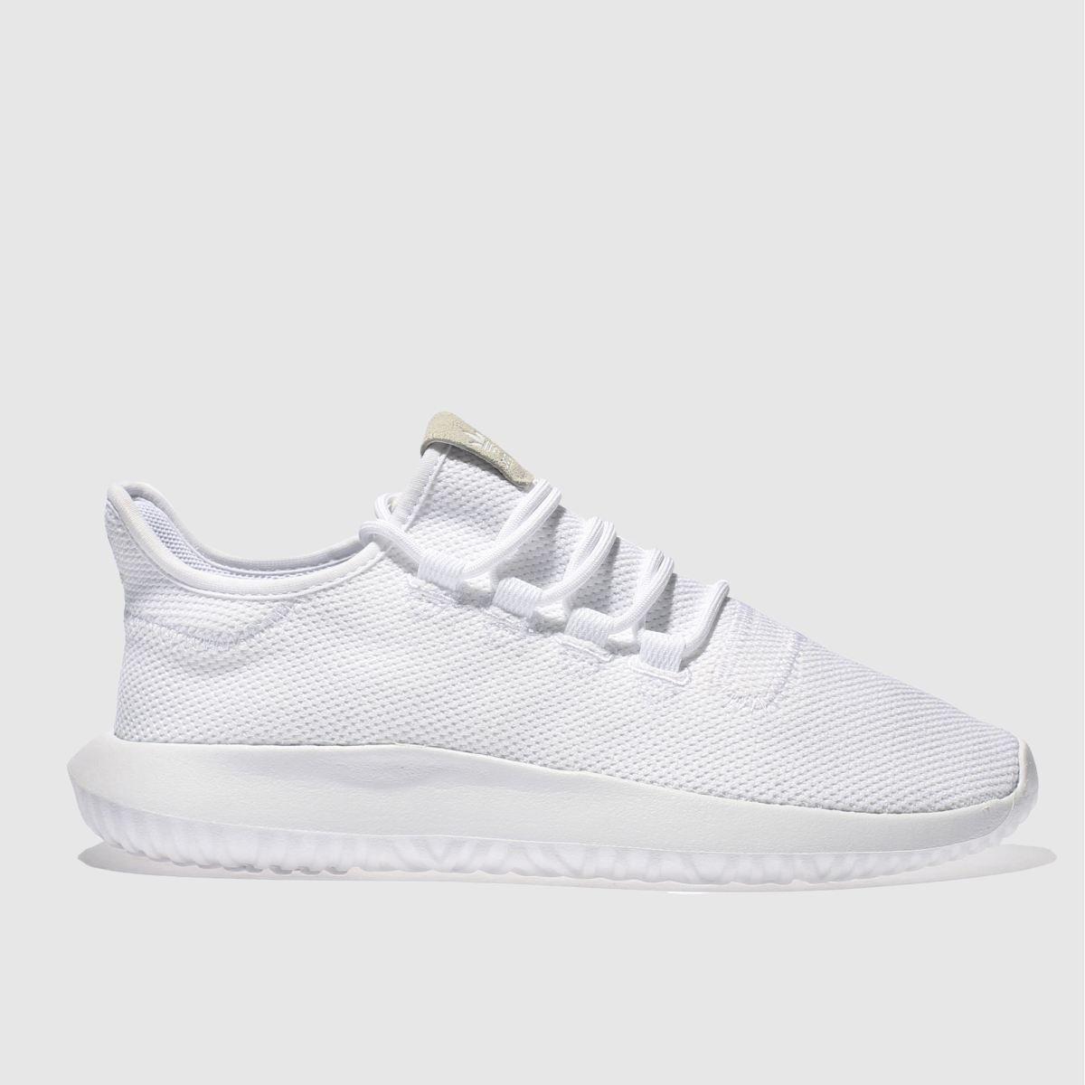 adidas white tubular shadow trainers