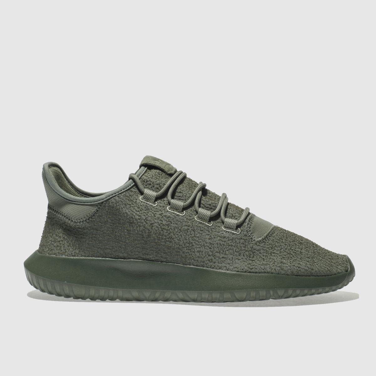 adidas khaki tubular shadow trainers