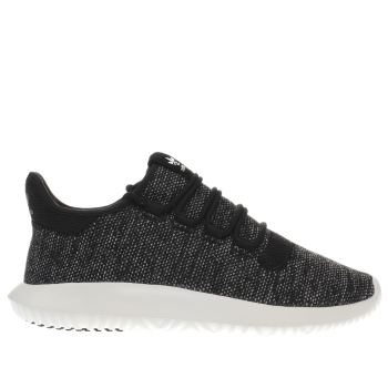 Adidas Core Black Tubular Shadow Knit Mens Trainers