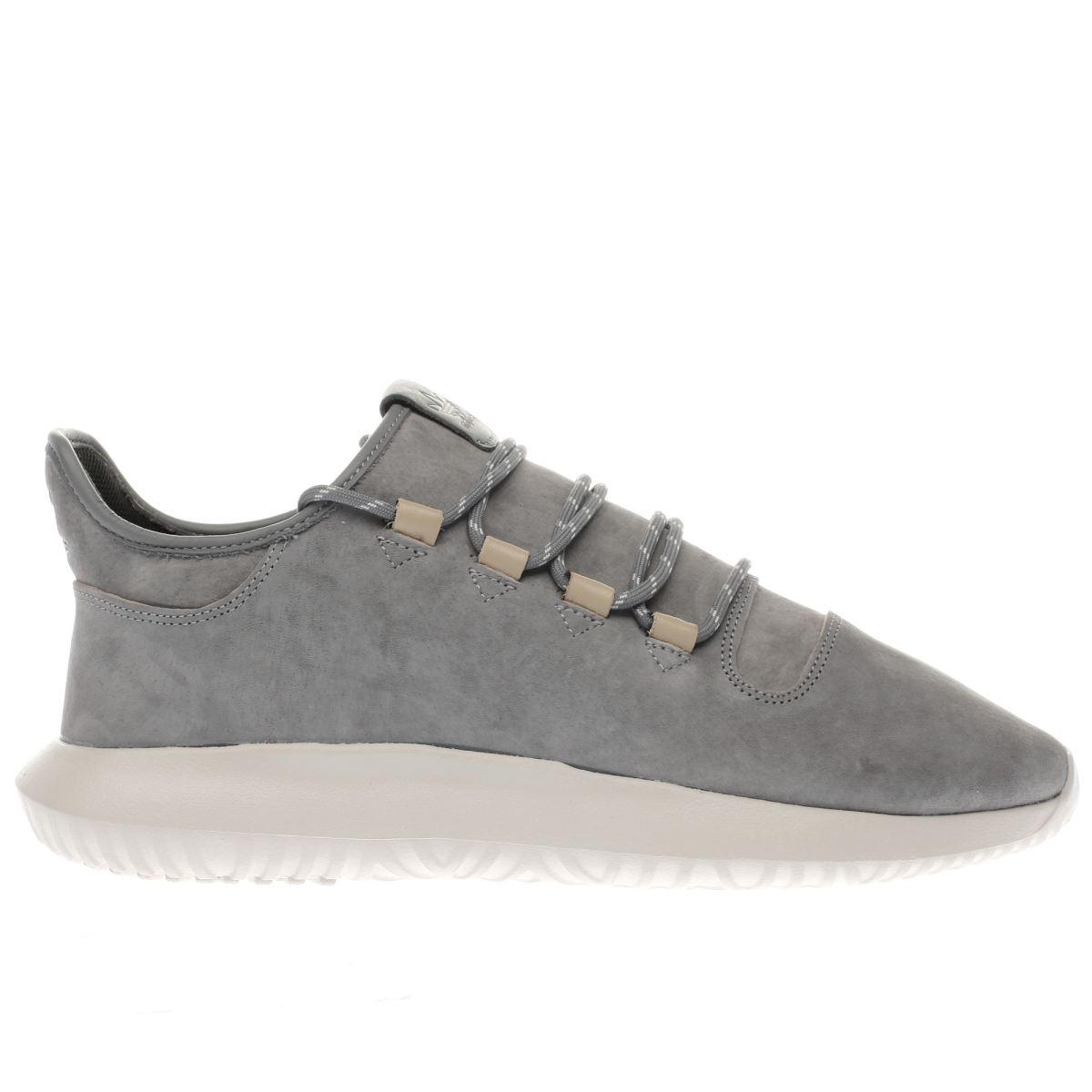 adidas grey tubular shadow trainers