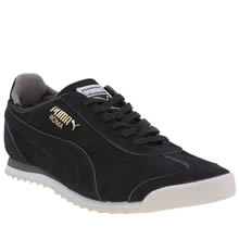 Puma Black & Grey Roma Og Trainers