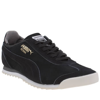 Puma Black & Grey Roma Og Mens Trainers